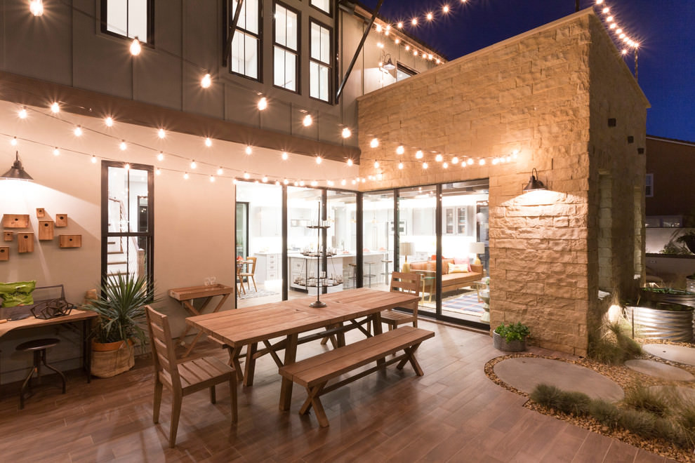 24+ Transitional Patio Designs, Decorating Ideas | Design ... on Wood Patio Ideas id=46223
