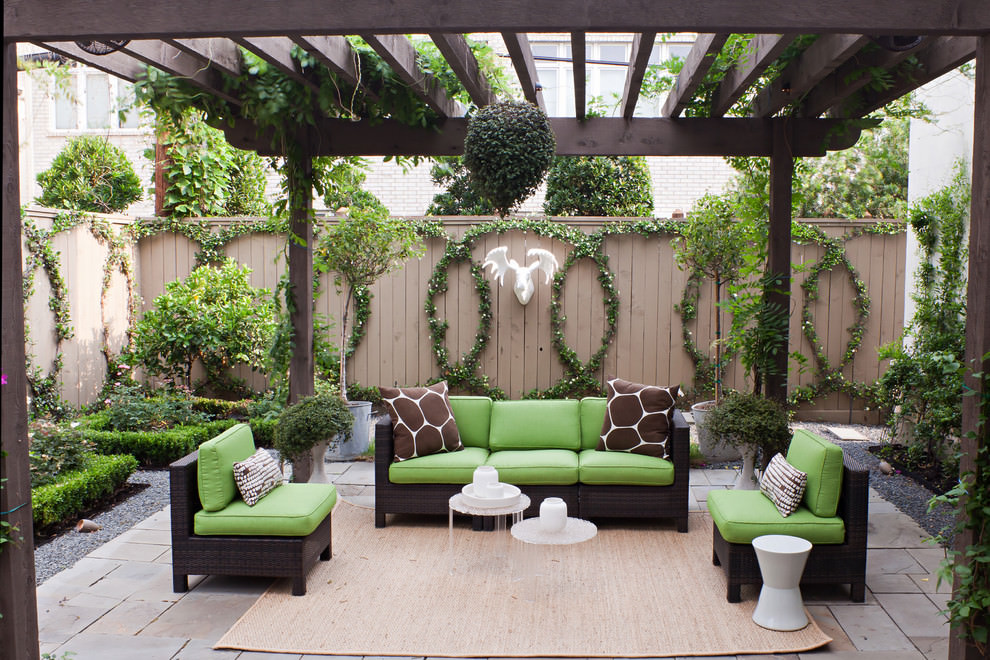 24 transitional patio designs decorating ideas design for Garden and patio designs