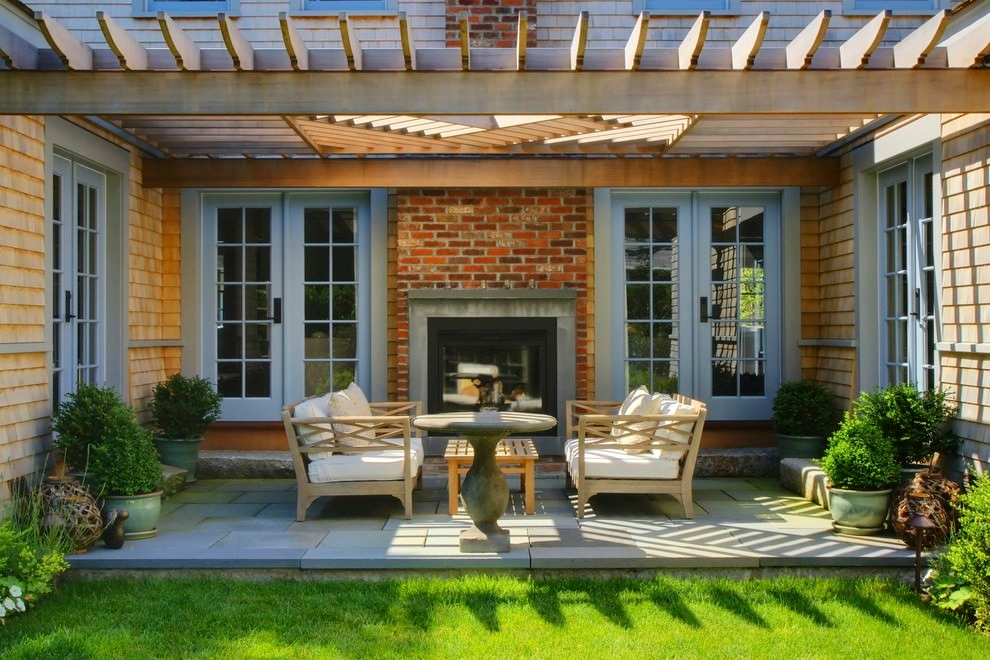 24+ Transitional Patio Designs, Decorating Ideas | Design ... on Small Outdoor Covered Patio Ideas id=16628