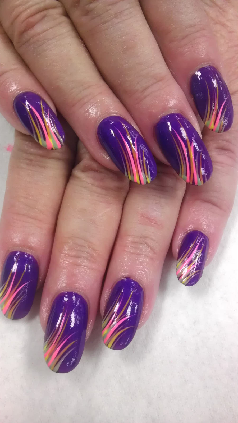 purple colored nails