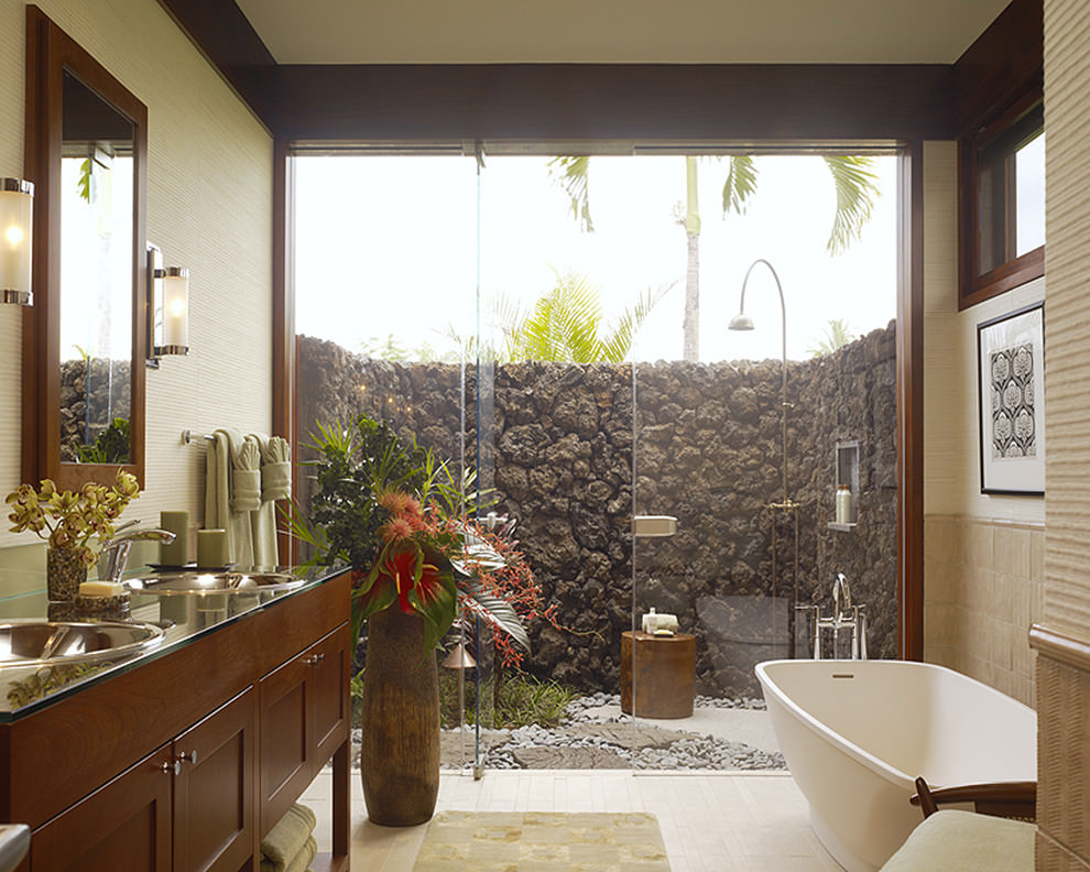 tropical style bathroom ideas