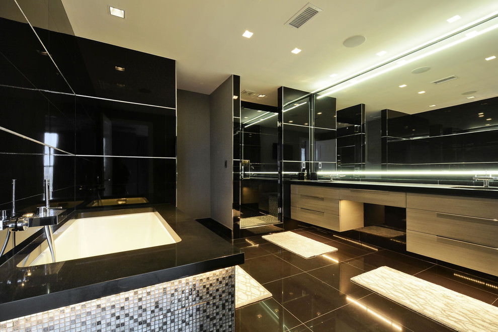 cool black bathroom designs