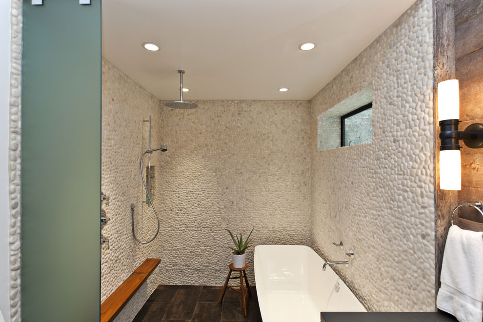 stone tiles bathroom designs