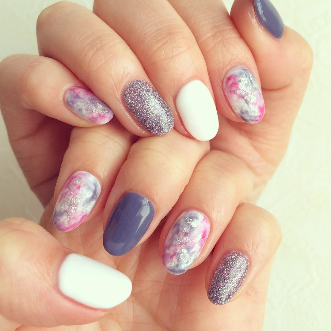 Nail design ideas for spring images for Acrylic nail decoration
