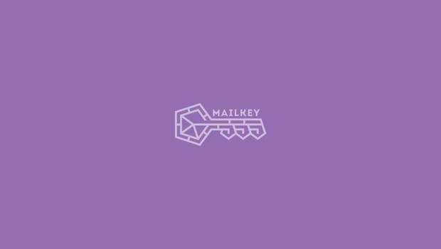 mail under a key logo design