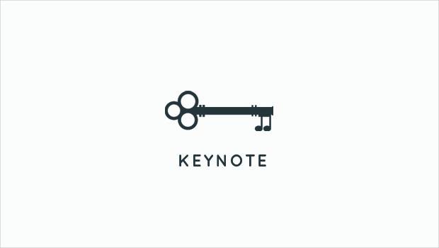 key logo for music