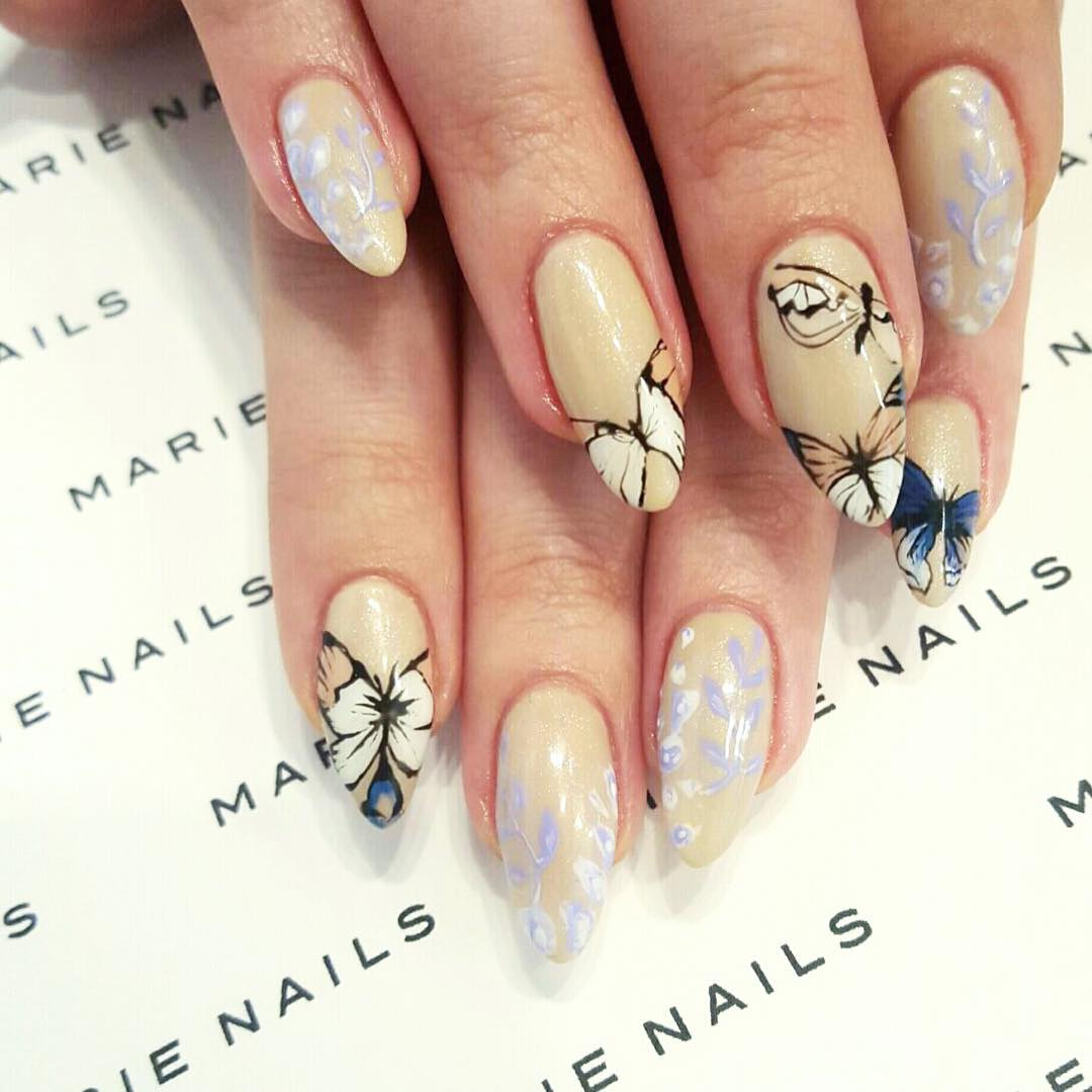 Butterfly Japanese Nail Art