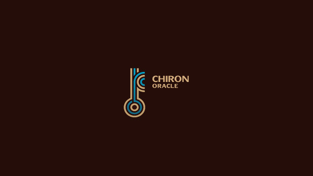 Chiron Oracle Line Logo Design