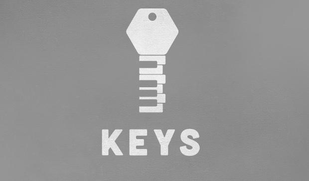 stylish key logo design