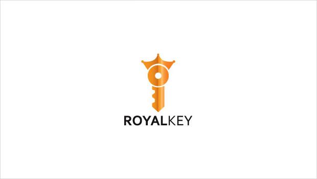 creative royal key logo