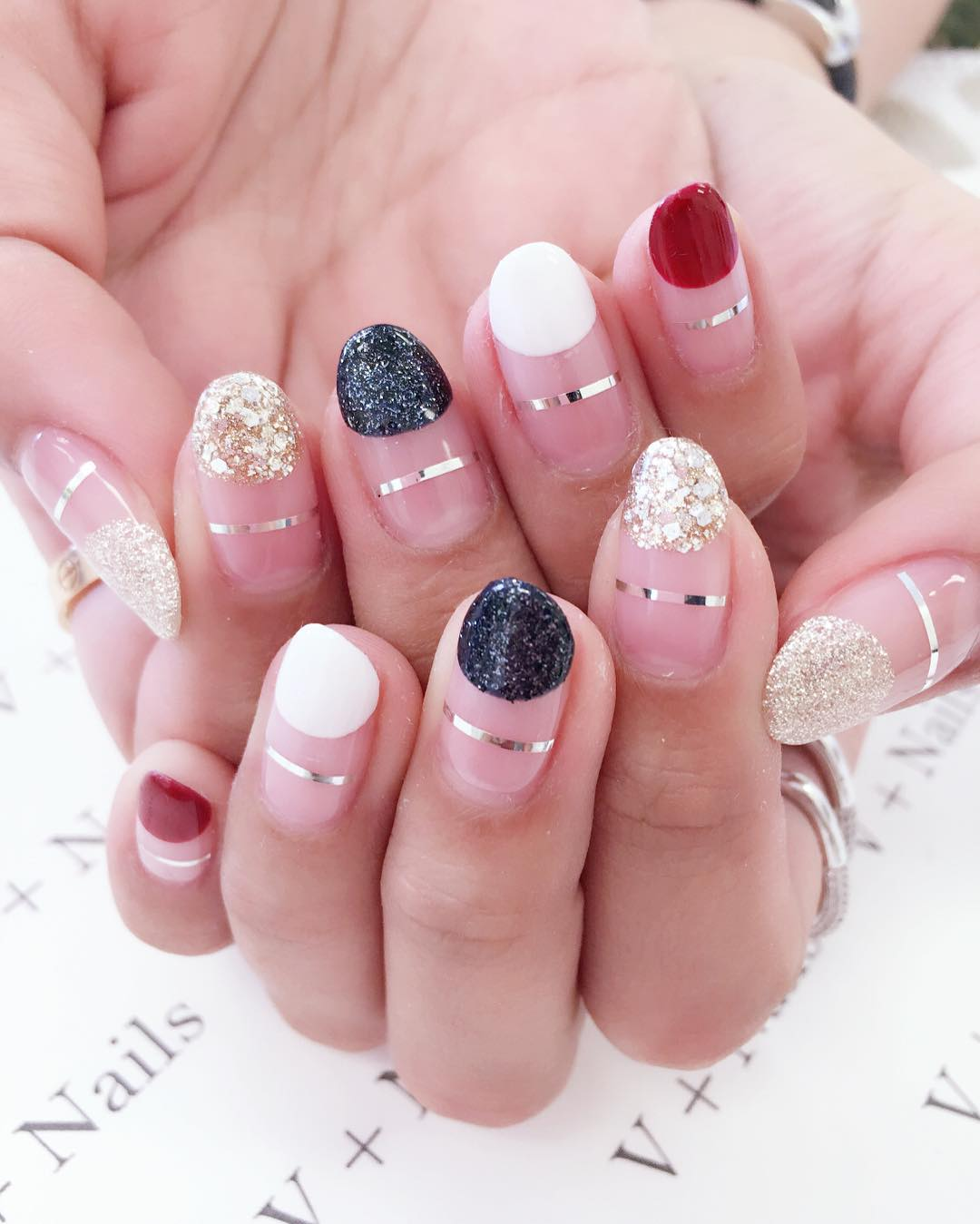 fashionable nail design for young women