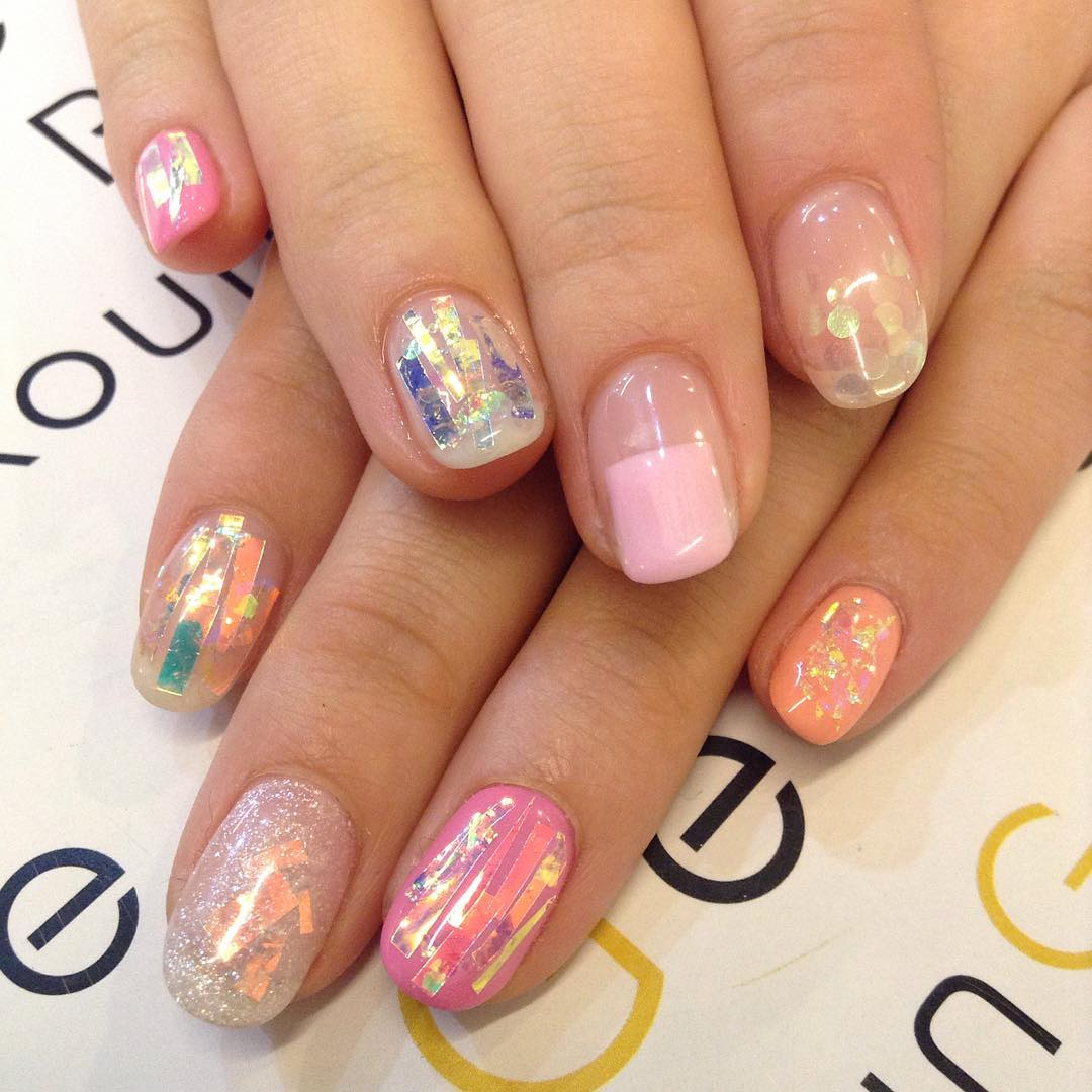 unique japanese nail design
