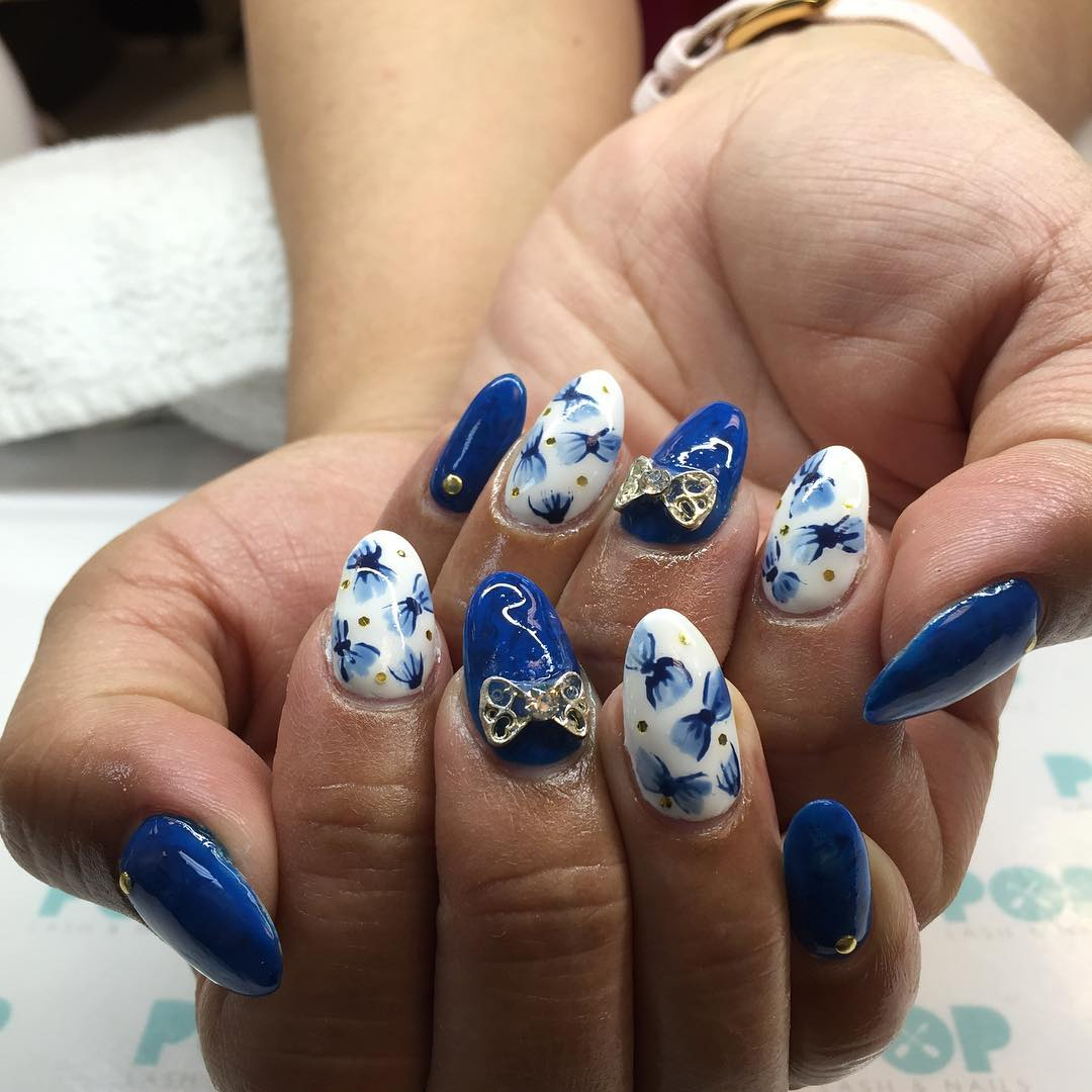 designed japanese nails