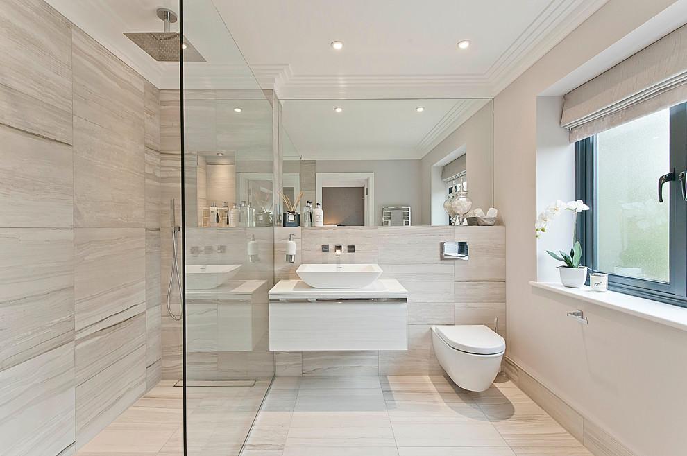 glassy curbless bathroom ideas