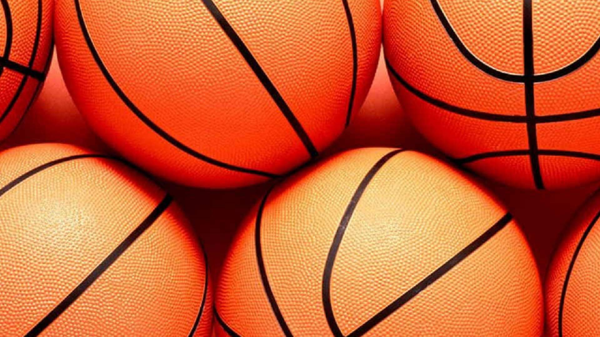 Orange Colour Basketballs wallpaper