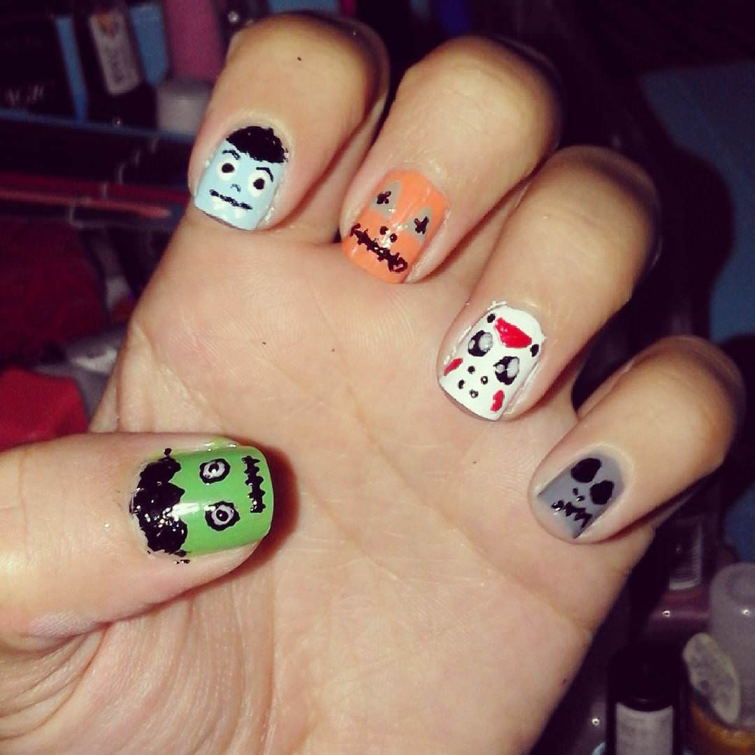 cute and funny acrylic nail design