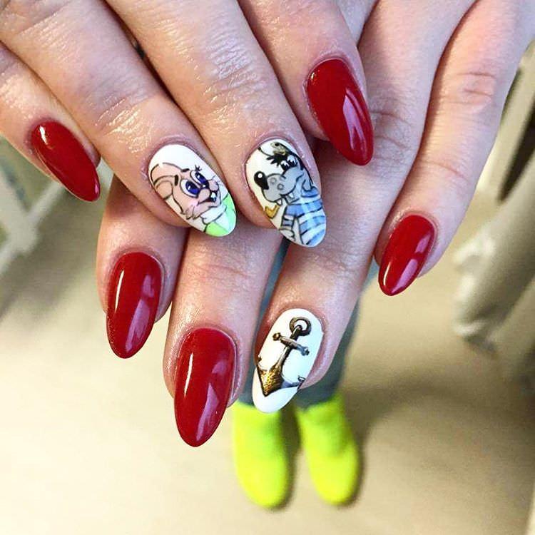 Cartoon Attractive Nails
