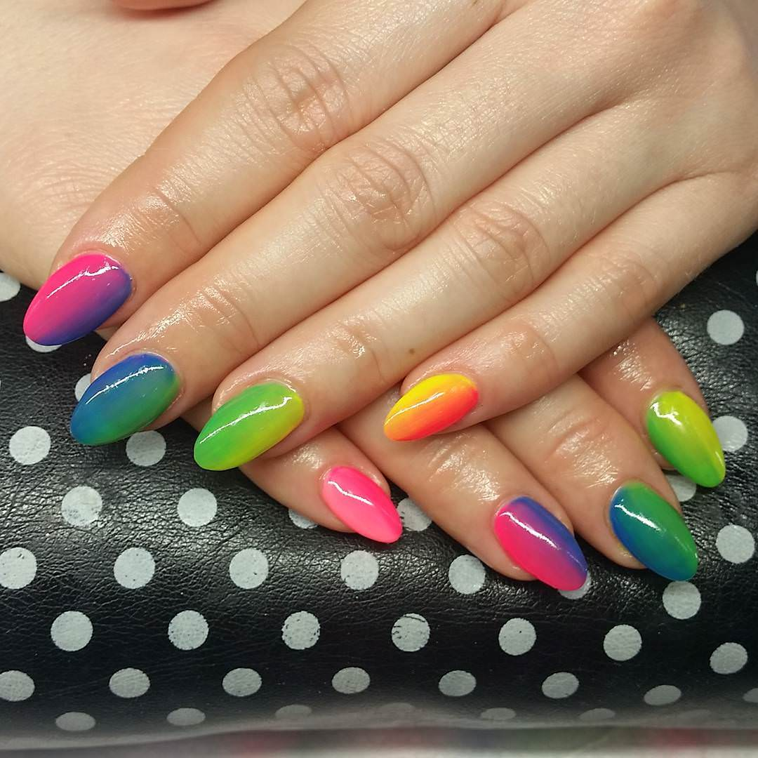 colorful acrylic nail art for women