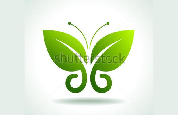 Butterfly Leaves Logo