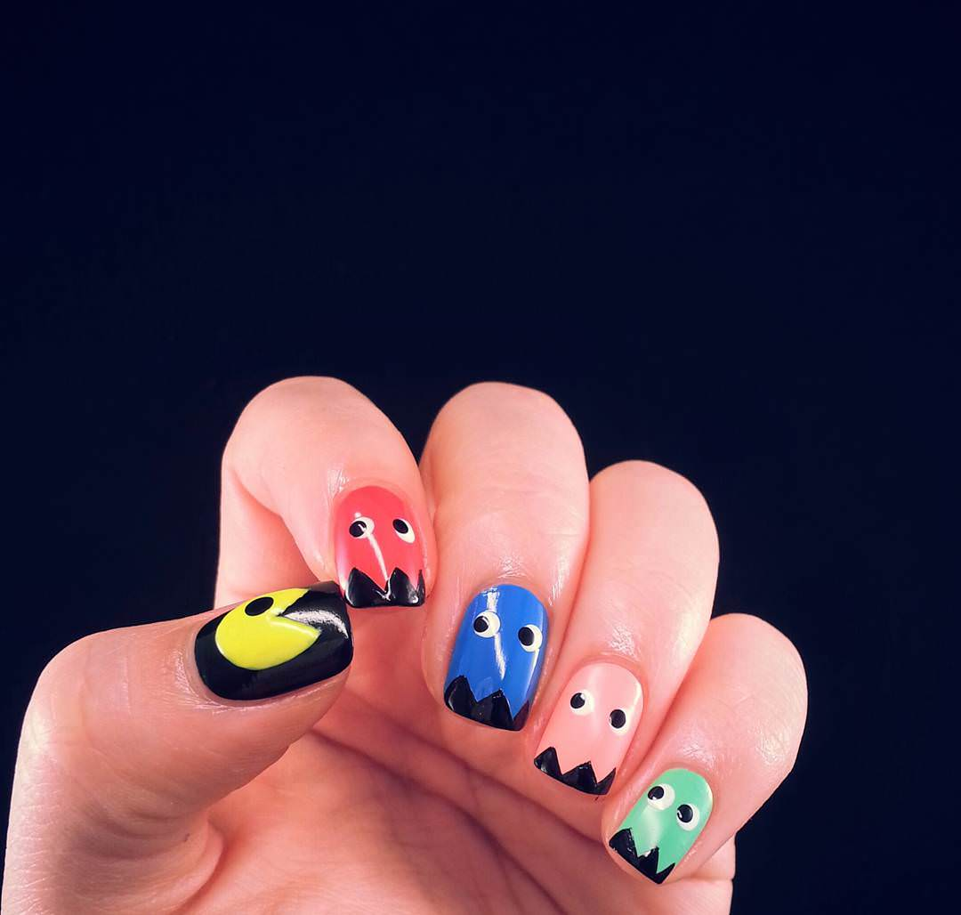 colorful nail design looks so attractive