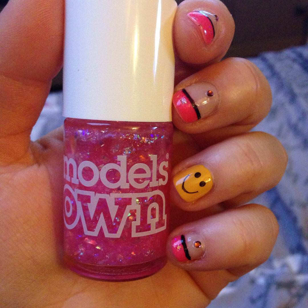 trendy and funny nail design
