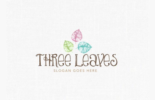 Custom Organic Leaf Logo