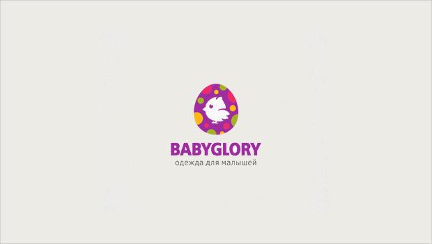 Colorful Babyglory Logo Style