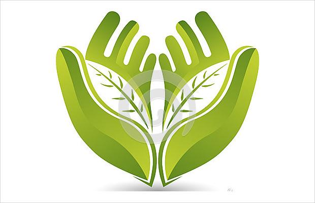 hands leaf logo