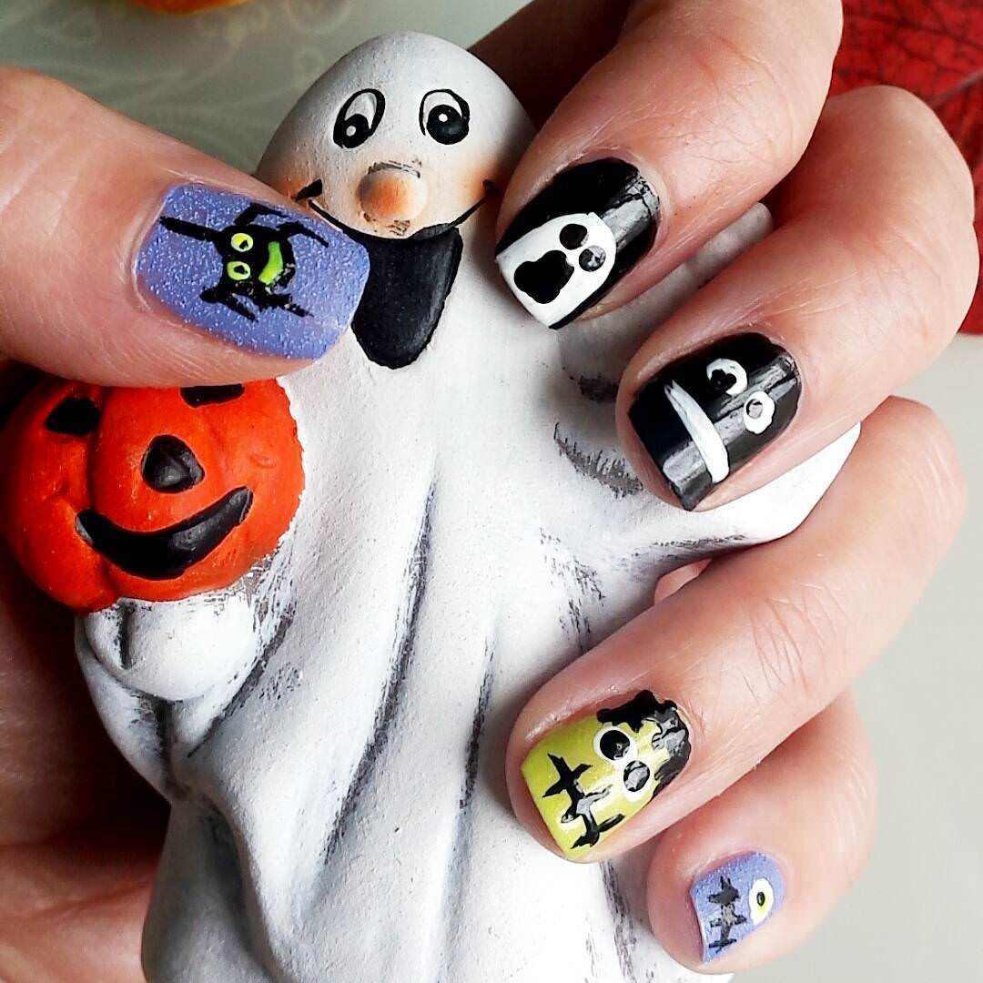 perfect funny acrylic nail art for women