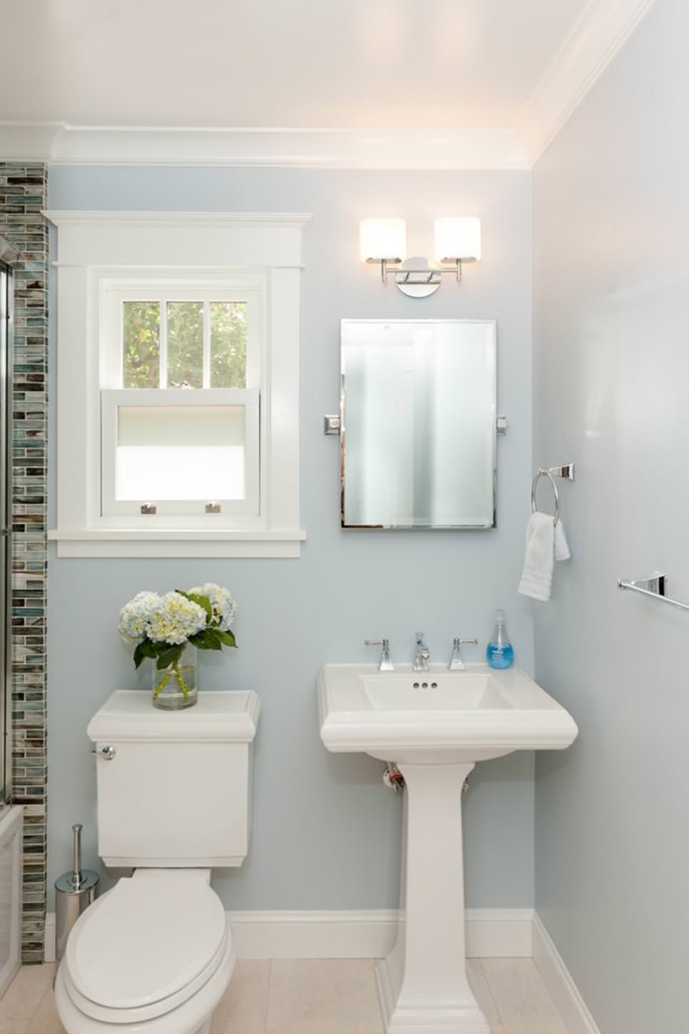 White Pedestal Sink Design