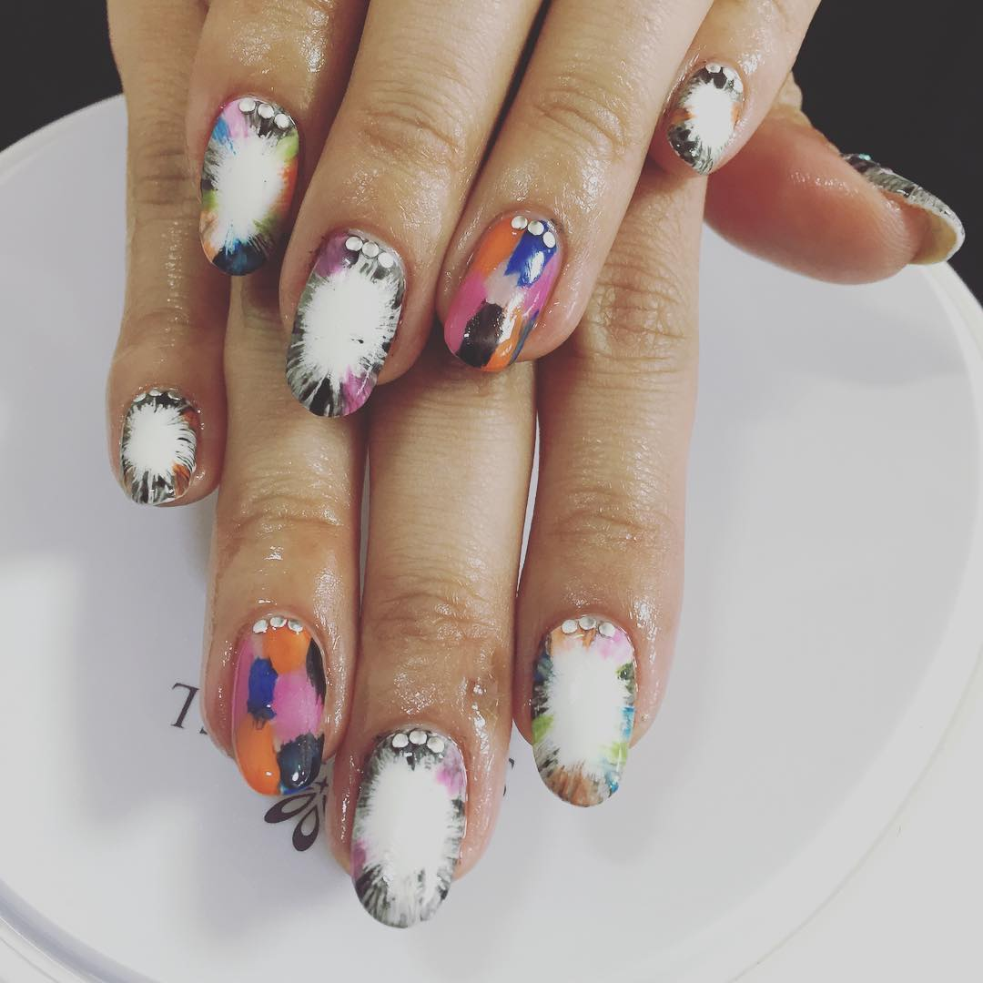 Colorful Acrylic Spring Nails