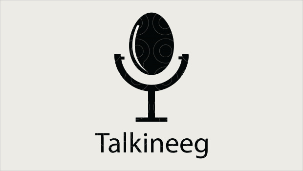 Talkineeg Egg Style Logo