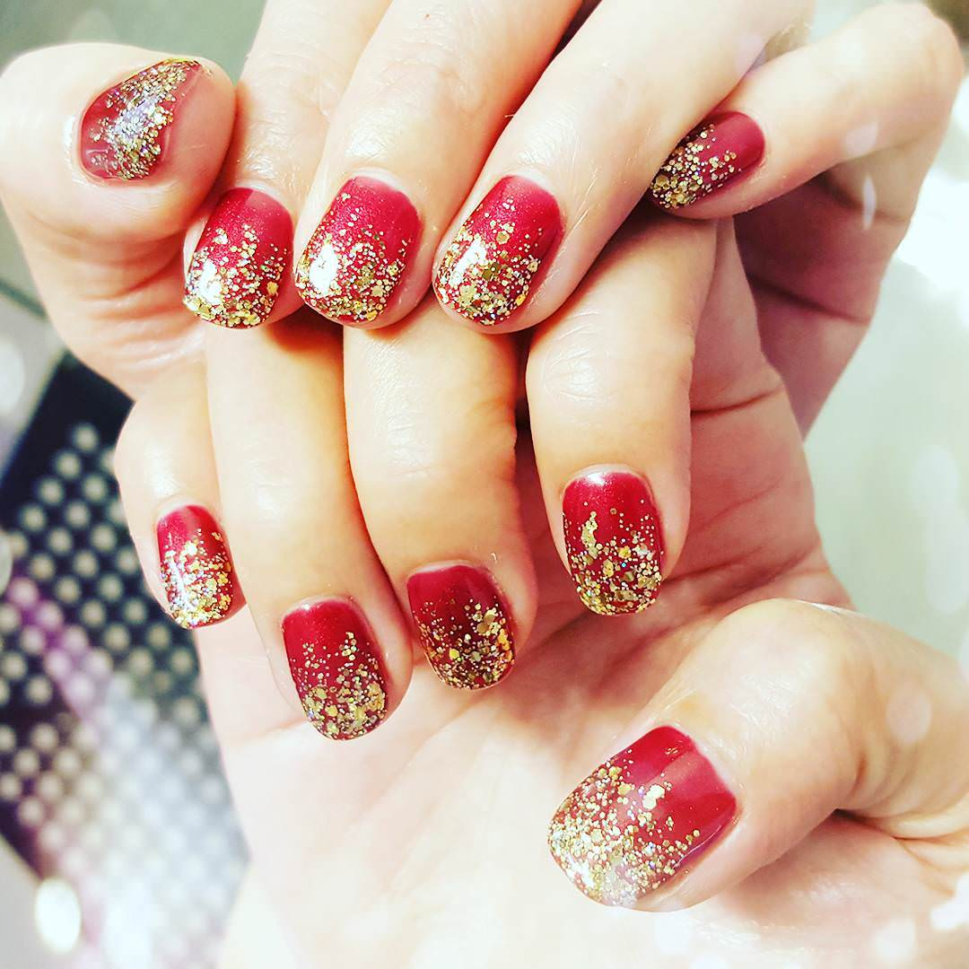 27+ Red and Gold Nail Art Designs, Ideas  Design Trends