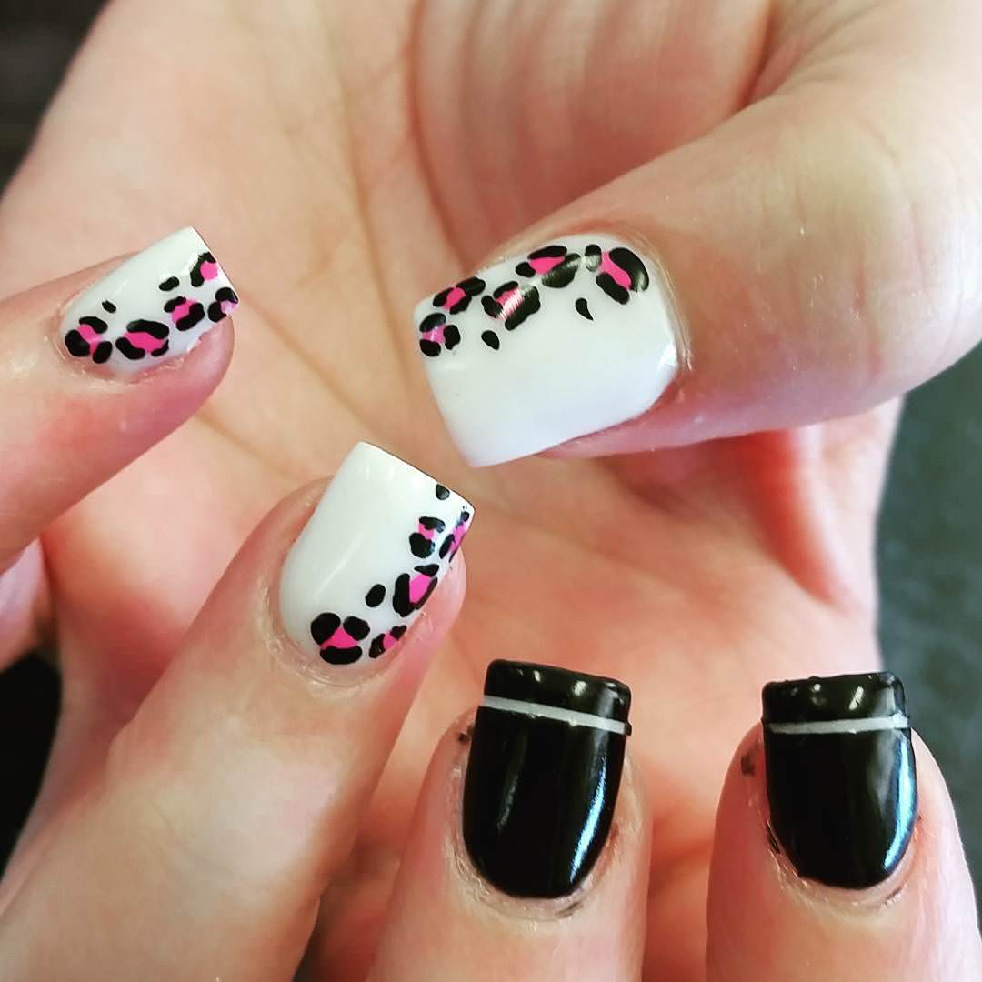 Teenage Girls Leopard Nail Art Designs Collection Opi Color So Hot