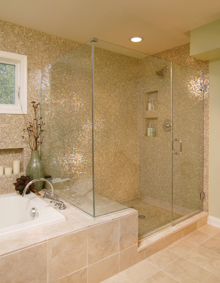 bathroom mosaic shower tiles model
