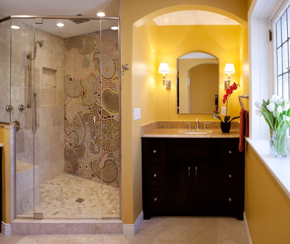 Wall Tile For Bathrooms: 24+ Mosaic Bathroom Ideas, Designs