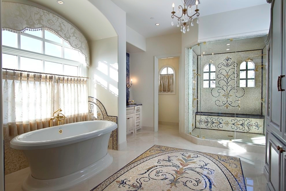 decorative mosaic bathroom design