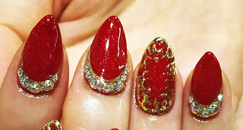 27 Red And Gold Nail Art Designs Ideas Design Trends Premium