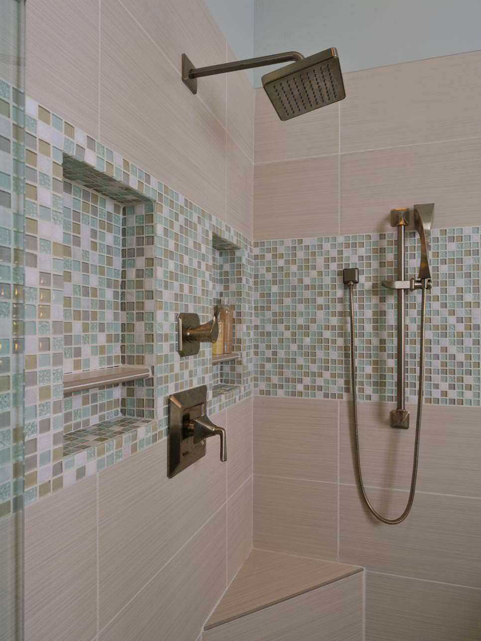 24 mosaic bathroom ideas designs design trends Mosaic tile designs for shower