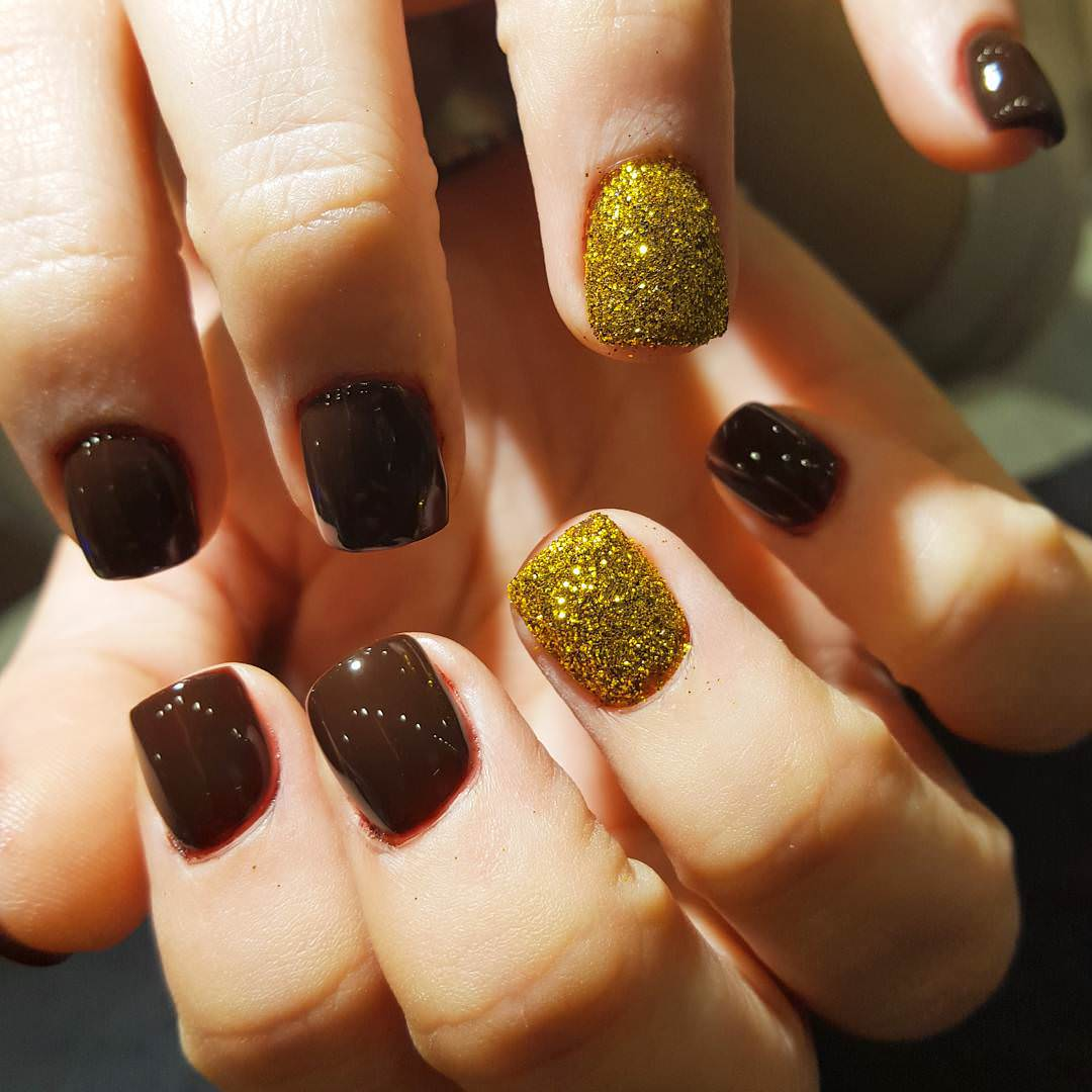 Brown Gel Nail Art Designs - 20+ Cute And Elegant Short Acrylic Nail Designs, Ideas Design