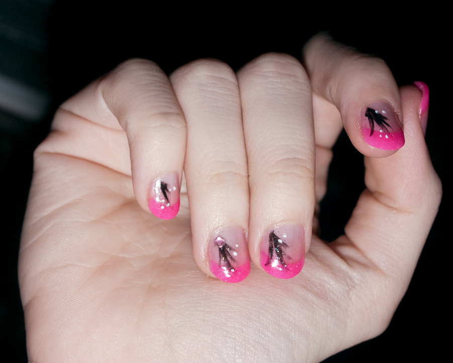 pretty acrylic small nail art