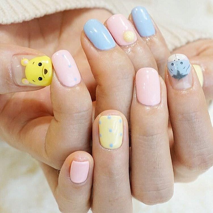 Trendy Design Nail Art For Medium Nails