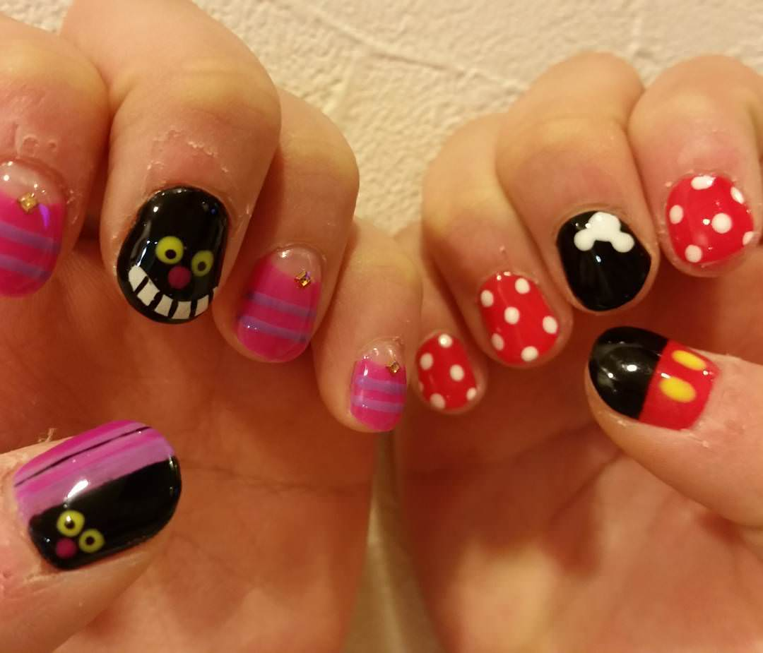 Colorful Kids Nail Designs For Short Nails