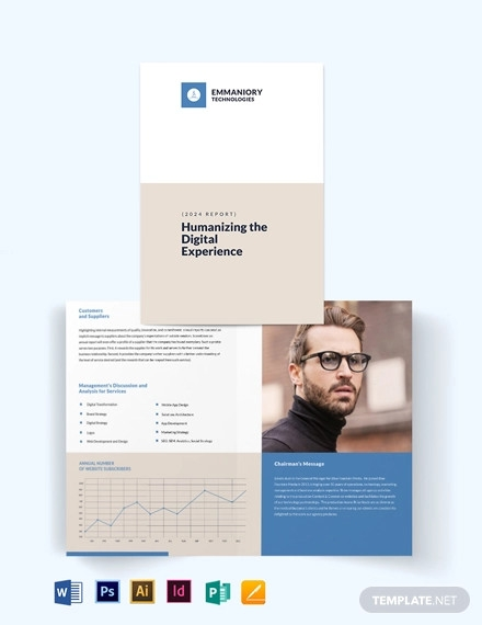 corporate annual report bi fold brochure template