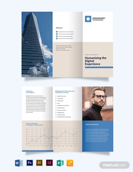 corporate annual report tri fold brochure template