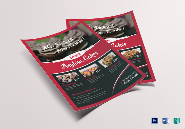 customizable bake sale flyer template
