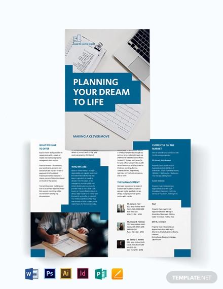 estate planning bi fold brochure template