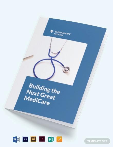 medical annual report bi fold brochure template