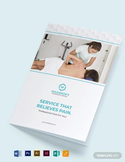 medical spa bi fold brochure template