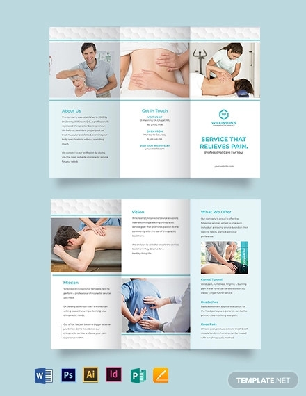 medical spa tri fold brochure template1
